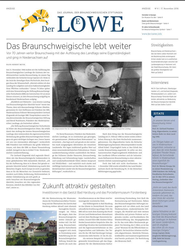 Print-Out: Die Braunschweigische Stiftung