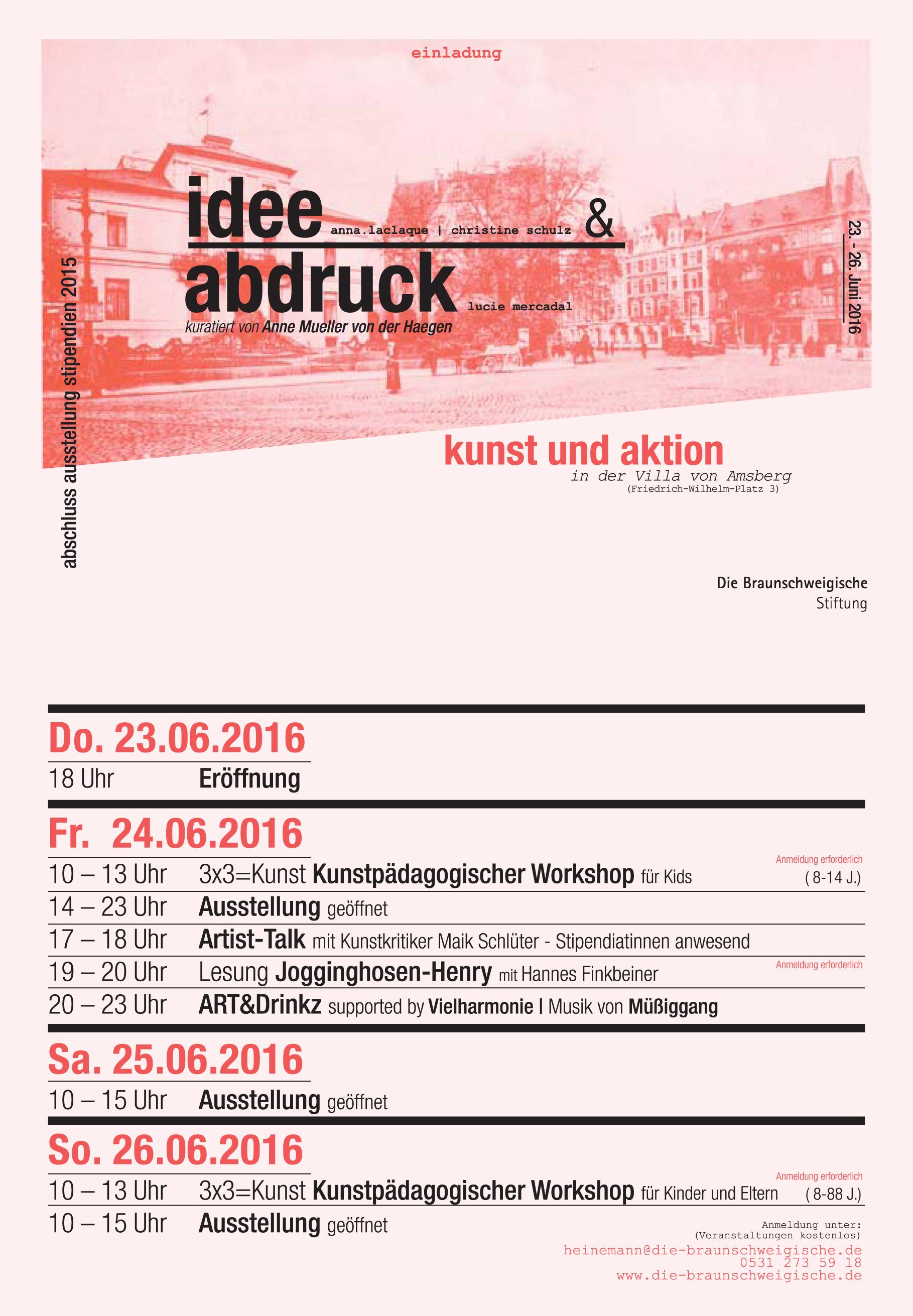 Abschlussausstellung Stipendien 2015: Die Braunschweigische Stiftung